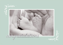 Tiny Toes Congratulations Cards